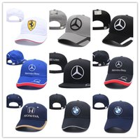 Wholesale Race Racing Car - 2018 Newest gorras dad hat Cotton Embroidery F1 Racing Cotton Baseball Cap Adjustable Golf Cap Car hats for women men summer bone casquette