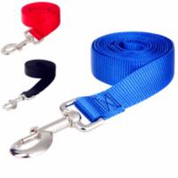 led dog collar achat en gros de-Laisses de chien en nylon long Pet Walking Training Leash Chats Chiens Harnais Collier Courroie de plomb Ceinture 3 Couleurs 1.5 M 1.8 M 3 M 4.5 M 6 M 10 M