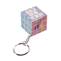 Wholesale puzzle games girls - Plastic Toys Puzzle Magic Cube Mini Game Fun Keychain Brinquedo Intelligence Cube Laberinto Educational Toys For Girls 60D0804
