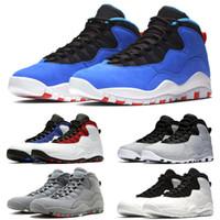 new style 2a125 bd56c Nike Air Jordan Retro Designer 10 10 s Hommes Cement Westbrook PE Top  Trainers Chaussures de Basket-ball Je suis de retour Noir Blanc Bleu Rouge  Hommes ...