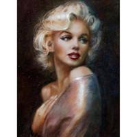 marilyn monroe pinturas venda por atacado-Marilyn Monroe óleo de diamante Pintura Pintura Completa Praça Ponto Cruz Decoração de Casa Pinturas praça Diamante Bordado pintura diy