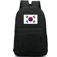 Wholesale bag school girl korea resale online - Korea flag backpack Strong country day pack Tai ji banner school bag Casual packsack Good rucksack Sport schoolbag Outdoor daypack