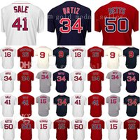 Wholesale dustin pedroia baseball - Embroidery Mens David Dustin Pedroia Andrew Benintendi Jerseys Mookie Betts Ted Williams Cool Base Baseball Jersey