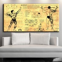 Wholesale nude body art painting for sale - Group buy 1 Panel modern canvas art human body structure canvas pictures oil art painting for livingroom bedroom decoration No Frame