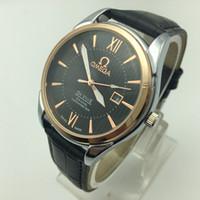 handgolduhren für männer großhandel-Top-Luxusmarke Herren-Business-Uhr hohe Qualität Kalender einfachen Stil Gold Stundenzeiger Quarzuhr klassischen Stil Uhr