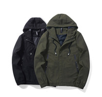 Wholesale clothe for sale - Group buy Euro Size Mens Hooded Jacket Autumn Fashion Thin Windbreaker Coats for Men Colors Casual Solid Jackets Outerwear Clothing
