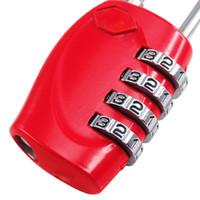 candados de equipaje tsa al por mayor-COSW Comercio al por mayor Hot Style2 X Red 4 Dial TSA Candado Restablecible Equipaje Restaurable Cerradura de Viaje