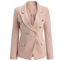 Wholesale Black Twill Jacket - 2018 new with label Brand B Top Quality Original Design Women's Ladies Females Swallowtail gold chain jacket Blazer outwear Metal Buckles