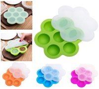 Wholesale egg moulds - 16.0*16.0*4.5cm Silicone Egg Bite Mold Baby Food Storage Container Fruit Ice Cube Ice Cream Maker Kitchen Bar Drinking Accessories DDA249