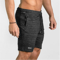 Wholesale workout clothes for men - Summer Mens Gyms Shorts Bodybuilding Clothing Men Fitness Zipper Pathwork Casual Male Workout Letter Printed Shorts For Stronger