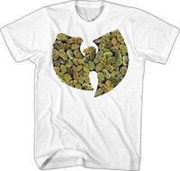 ingrosso t-shirt di nazione-WUTANG CLAN - Pot Leaf - T SHIRT S-2XL Nuovo ufficiale Live Nation Merchandise 2018 Men's Lastest Moda manica corta stampato Funny Tee