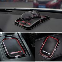 navigasyon aksesuarları toptan satış-1 adet BEYAZ KıRMıZı Araba Telefon Tutucu Navigasyon Braketi GPS destek Araba Aksesuarları Mercedes Benz AMG CLS GLK CLK E-Sınıf C-Class