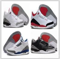 brand new 01bed 99f5a blanco negro de cemento infrarrojo 23 lobo gris zapatillas de baloncesto  zapatillas de deporte para hombres 3 3s buena calidad versión tamaño EE. UU.