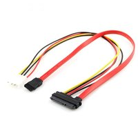 Wholesale laptop power leads online - SATA Pin Combo to Pin Power Pin Data Cable Pin Molex to Serial ATA Lead QJY99