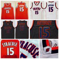 Wholesale free ncaa - Men's Syracuse College NCAA #15 Carmelo Anthony Jersey Orange Black White Carmelo Anthony Stitched Basketball Jerseys Free Shipping
