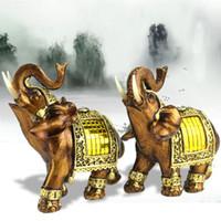 ingrosso ornamenti di elefanti-Elephant Shape Resin Ornament Home Furnishing Originalità Regalo Retro Arti e mestieri Animal Creative Carve Decor Accessories 26qr2 jj