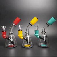 курящие чаши бесплатная доставка оптовых-Высокое 420 новое прибытие стеклянные водопроводные трубы маленький милый кусок курительная трубка с 14 мм мужской стеклянная чаша стеклянная вода Бонг Бесплатная доставка