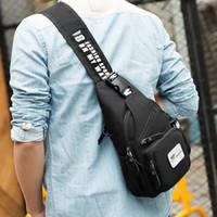 caixa masculina venda por atacado-Nova Sling Oxford Bag Chest Pack Homens Sacos Do Mensageiro Casual Viagem Masculino Pequeno Retro Saco de Ombro Crossbody Daypack 20 * 6.5 * 31.5 Cm