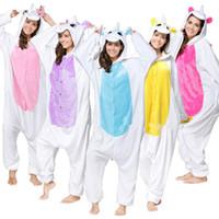 пижама для животных оптовых-Оптовая животных Стежка Единорог Панда Медведь Коала Пикачу Взрослых Мужская Косплей Костюм Пижамы Пижамы Для Мужчин Женщин 100 шт. / Лот T2I133