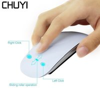 Wholesale usb optical scroll mouse online - CHUYI Wireless Magic Mouse Slim USB Optical Computer Mice Touch Scroll Ultra Thin Mouse Sem Fio For Mac Laptop Notebook
