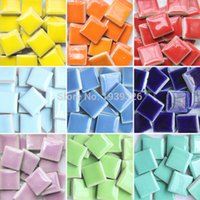 Wholesale Stone Glass Mosaic - Diy Colorful Mosaic Tiles Craft 200 Pcs Garden Aquarium Decoration Natural Glass Stone And Minerals Square Marble Ceramic Mosaic