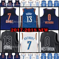 Wholesale Paul George Jersey - 2018 New Men's 13 Paul George Jersey 0 Russell Westbrook 7 Carmelo Anthony Basketball Jerseys All Star