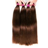 Wholesale human hair attachment for braids for sale - 8A Brazilian Human Hair Bulk For Hair Extensions Silky Straight inch Brazilian Braiding Hair Wefts Straight