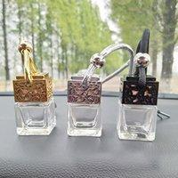 garrafas vazias ml venda por atacado-8 ML Carro Perfume Garrafa Oco Hanging Perfume Refrogerador De Ar Para Óleos Essenciais Difusor Fragrância Garrafa De Vidro Vazio HH7-1827