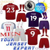 Wholesale 23 sweatshirt - new liverpooling 18 19 soccer jersey men set Home away THIRD FIRMINO M.SALAH MANE 2018 2019 23 SHAQIRI Sweatshirt kit Shorts socks MILNER