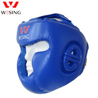Discount boxing head guards Wesing Pro Style Boxing Fighting Kickboxing Head Protector Muay Thai Martial Art Head Guard Protective Head Gears Sport Helmets