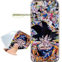 iphone 4s anime kılıfı toptan satış-Coque DBZ Anime Goku Kılıfları iPhone için 10 X 7 8 6S 6 Artı 5S 5 SE 5C 4S 4 iPod Touch 6 5 Şeffaf Yumuşak TPU Silikon Kapak.