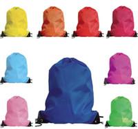 ayakkabı çekme iğnesi çantası toptan satış-Çocukların giysi ayakkabı çantası Okul İpli Dondurulmuş Spor Salonu PE Dans Taşınabilir Sırt Çantaları Y235