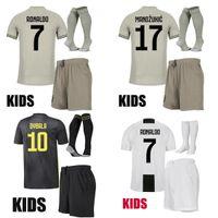 uniforme al por mayor-Niños 2018 19 RONALDO Juventus camiseta de fútbol DYBALA PJANIC EMRE CAN 18 19 niños del equipo de fútbol MANDZUKIC niños juegos de uniformes de fútbol juvenil
