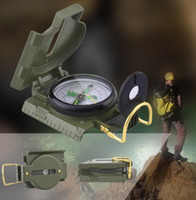 Wholesale military compasses for sale - Group buy Pocket Army Compass Military Camping Hiking Survival Marching Mini Military Outdoor Survival Lensatic Pocket Compass KKA4449