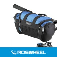 Wholesale handlebar bags - 2 Colors Roswheel Utility Bicycle Bags 5L Bike Handlebar Bag Bicycle Front Tube Pocket Shoulder Pack Riding Cycling Supplies