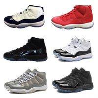 Wholesale Embroidered Gown Red - 11 Prom night Cap and Gown Basketball Shoes space jam gamma legend blue cool grey low concord infrared bred mens trainers sneakers