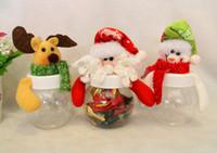 caixa redonda de embrulho venda por atacado-Latas de doces de Natal pentagrama redondo dois envoltório de presente de caixa de doces de boneca de tecido pentagrama