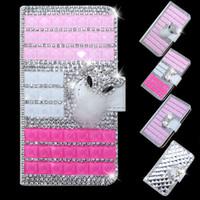 Wholesale bling blades resale online - Diamond wallet case For ZTE Blade Z Max metropcs ZMax Pro Z982 For Alcatel A30 Fierce Metropcs Rhinestone crystal bling leather