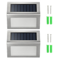 Wholesale pathway solar light for sale - High Bright LED Solar Powered Stainless Steel Outdoor Corridor Pathway Stairs Driveway Flowerbeds Superior Durable white Light Lamp