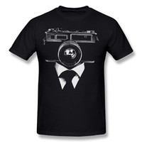 große menfotos großhandel-Klassische Männer 100% Baumwolle Foto Kamera Mann T-Shirts Männer Rundhals Weiß Kurzarm T-Shirt Große Größe T-Shirts gedruckt