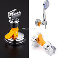 Wholesale shower head brackets - New Bathroom Shower Heads Bracket Seat Bathroom Adjustable Holder Rack Suction Cup Wall Mounted Replacement Shower Holder WX9-431
