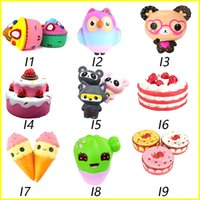 Wholesale toys for kids - Squishy Toys squishies Rabbit tiger owl panda pineapple bear cake mermaid Slow Rising Squeeze Cute Cell Phone Strap gift for kid to