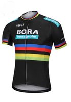 Wholesale Uci Cycling - 2018 BORA PRO TEAM PETER SAGAN UCI CHAMPION 2 COLORS ONLY Short Sleeve Cycling Jersey Bicycle Wear Size XS-4XL
