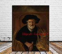 modern portreler toptan satış-Bir sakallı yaşlı adam portresi, tuval parçaları ev dekor hd baskılı modern sanat resim tuval (çerçevesiz / çerçeveli)