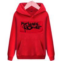 punk tarzı sweatshirt toptan satış-Benim Kimyasal Romantizm polar hoodies Gerard Way punk stil erkekler kadınlar için kapüşonlu tişörtü rock grubu sokak giyim
