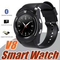 Wholesale i watch bluetooth for sale - 20X V8 Smart Watch Bluetooth Watches Android with M Camera MTK6261D DZ09 GT08 Smartwatch for android phone with Retail Package I BS