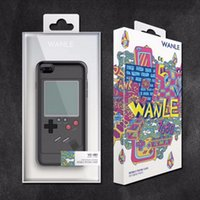 Wholesale Game Console Cases - 1pcs Gameboy Tetris Phone Cases Play Game Console Cover TPU Shockproof Protection Case For Iphone 6 6s 7 8 Plus Retail package