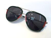 tasarımcı gözlük çerçeveleri kadın toptan satış-Kadınlar için lüks tasarımcı güneş gözlüğü 0062 klasik Yaz Moda Stil metal Çerçeve gözlük En Kaliteli gözlük UV Koruma Lens