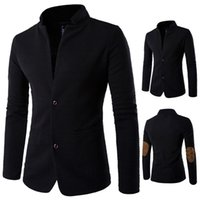 Wholesale performance clothing for singers online - Male clothes black coat Men spring winter jacket for singer dancer performance prom dress show party nightclub outdoors Plus Size M XL