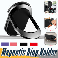 Wholesale tablet stands holders - Universal Finger Ring Holder For Magnetic Car Phone Holder Mobile Phone Ring Stand For iPhone X Tablet Carro Suporte Celular